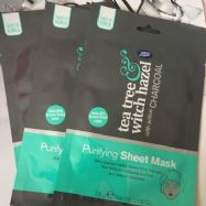 Boots Tea Tree & Witch Hazel Charcoal Purifying Sheet Mask- Pack of 3.